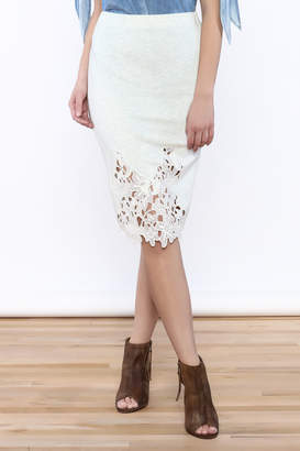 Umgee USA Lace Front Skirt