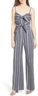 Socialite Double Tie Front Jumpsuit