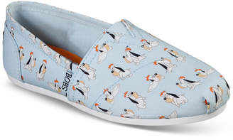 Skechers Women Bobs For Dogs Bobs Plush - Sooo Happy Casual Slip-On Flats from Finish Line