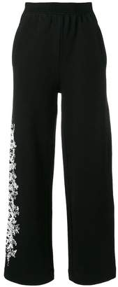 Off-White side print wide leg joggers