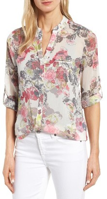 Women's Kut From The Kloth Floral Print Blouse $68 thestylecure.com