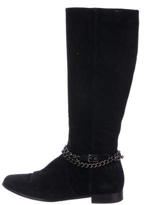 Aquatalia Suede Chain-Link Boots
