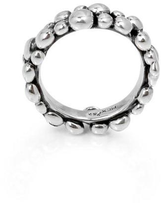 Eduardo Sanchez Textured Silver Ring
