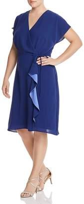 Adrianna Papell Plus Faux-Wrap Dress