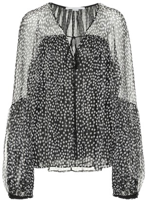 Stella McCartney Silk-blend blouse