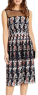 Phase Eight Gabriella Embroidered Dress, Navy