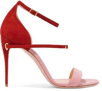Jennifer Chamandi - Roland Two-tone Suede Sandals - Pink