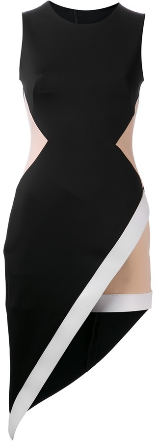 David Koma asymmetrical dress