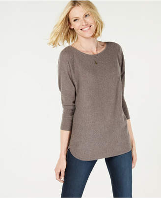 Charter Club Pure Cashmere Pullover Shirttail Sweater, Created for Macy's