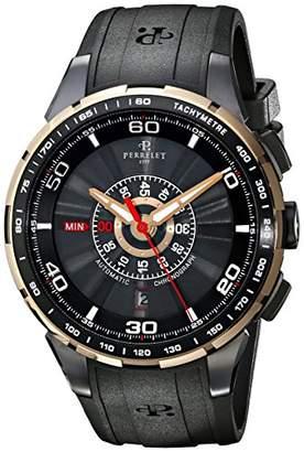 Perrelet Men's A3036/1 Turbine Analog Display Swiss Automatic Black Watch