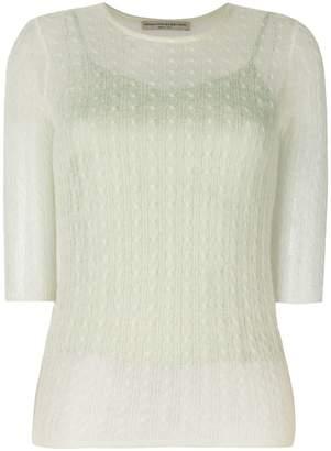 Ermanno Scervino cable knit top