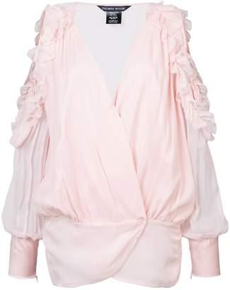 Thomas Wylde off-shoulder ruffle blouse