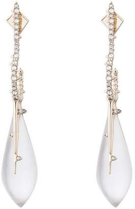 Alexis Bittar Crystal Encrusted Hook & Teardrop Drop Earrings