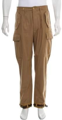 Salvatore Ferragamo Slim Wool Cargo Pants
