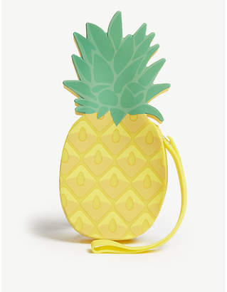 Sunnylife Ladies Yellow and Green Pineapple Shape Vibrant Wristlet Coin Pouch