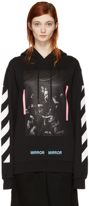 Off-White Black Diagonal Caravaggio Hoodie $540 thestylecure.com