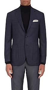 Canali Men's Plaid Wool Flannel Two-Button Sportcoat-Purple