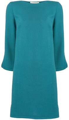 L'Autre Chose slit sleeve shift dress