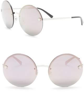 Versace Frameless Round 59mm Sunglasses