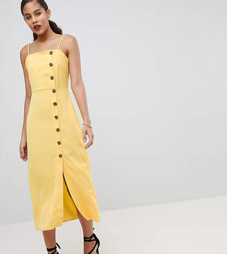 Fashion Union Tall Cami Sun Dress With Button Front