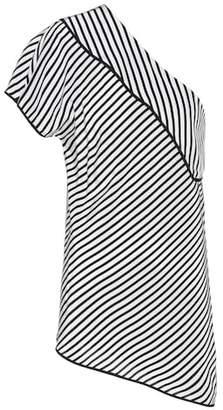 Diane von Furstenberg One Shoulder striped top