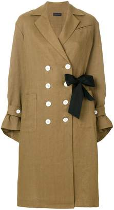 Eudon Choi double buttoned trench coat