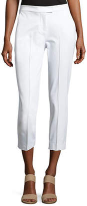 Misook Stretch-Cotton Cropped Pants