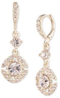 Givenchy Faceted Crystal Drop Earrings
