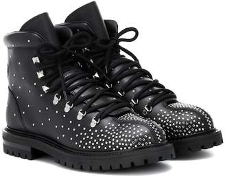 Valentino Dewstud leather ankle boots