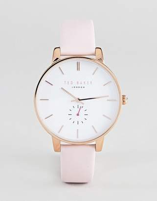 Ted Baker TE50310003 Olivia Leather Watch In Pink 40mm