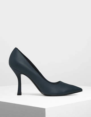 Charles & Keith Curved Stiletto Heel Pumps
