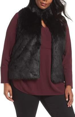 MICHAEL Michael Kors Faux Fur Sweater Back Vest