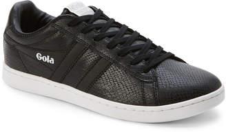 Gola Black Equipe Snake-Effect Low-Top Sneakers