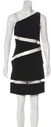 Michael Kors Wool Vinyl-Trimmed Dress
