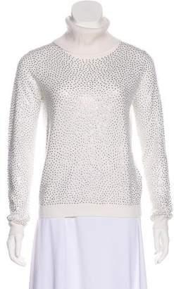 Alice + Olivia Embellished Turtleneck Sweater