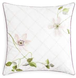 """Yves Delorme Clematis Decorative Pillow, 18"""" x 18"""""""