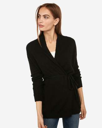 Express Belted Wrap Front Cardigan