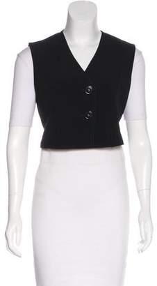Derek Lam Cropped Button-Up Vest w/ Tags