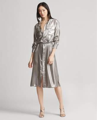 Ralph Lauren Christiane Foil Shirtdress