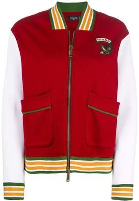 DSQUARED2 colour-block bomber jacket