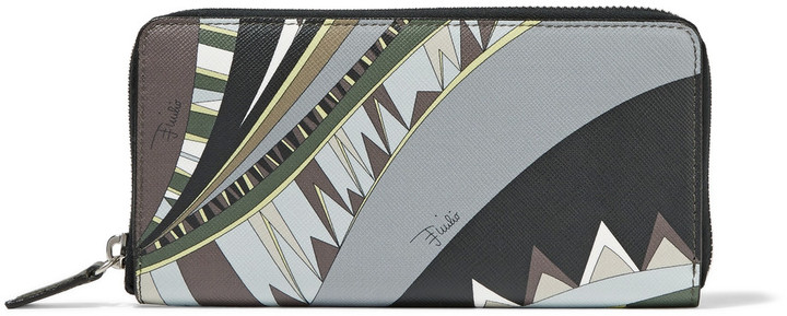 Emilio PucciEmilio Pucci Printed textured-leather wallet