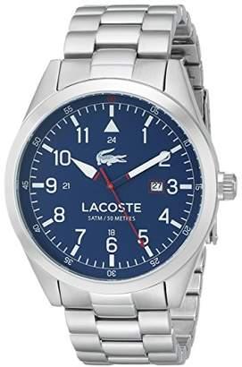 Lacoste Men's 2010783 Montreal Analog Display Japanese Quartz Silver Watch