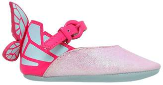Sophia Webster Chiara Baby Glittered Leather Shoes