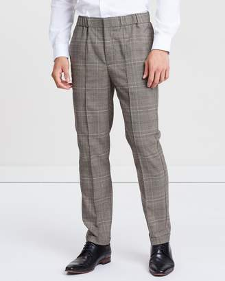 Wide Leg Check Pants