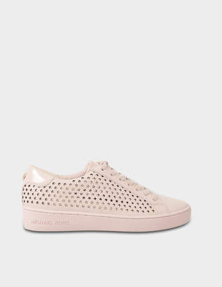 MICHAEL Michael Kors Irving Star Lace Up Sneakers in Pink Calfskin