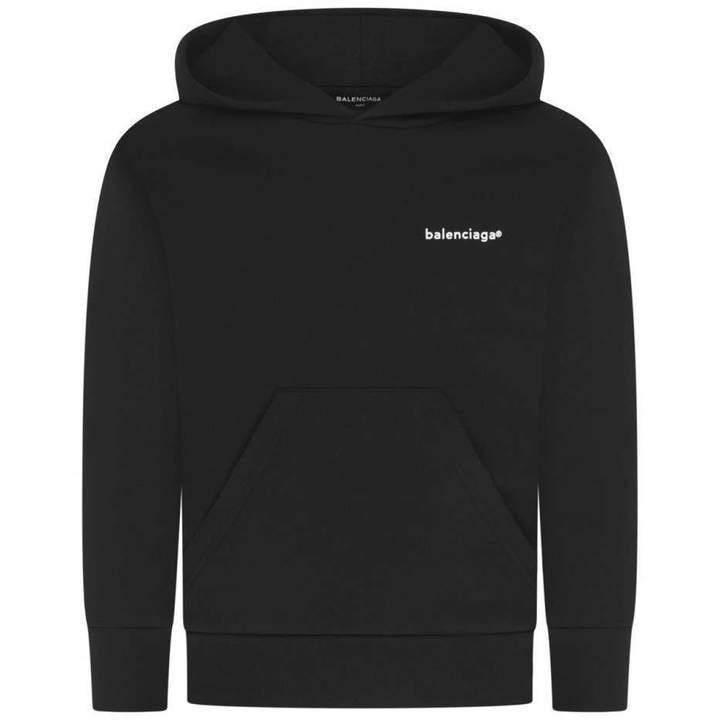 BalenciagaBlack Logo Hoodie