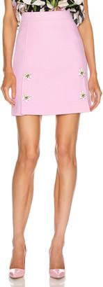 Dolce & Gabbana Embellished Rosa Skirt in Light Pink | FWRD