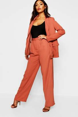 732520052641 boohoo Red Wide Leg Trousers For Women - ShopStyle UK