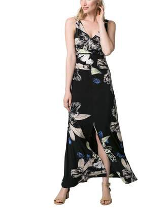 Le Château Women's Floral Print Knit Maxi Dress,S