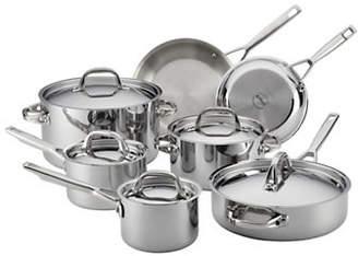 Anolon 12-Piece Stainless Steel Cookware Set